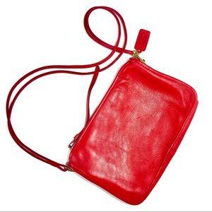 Vintage Coach bag in Radiant Red